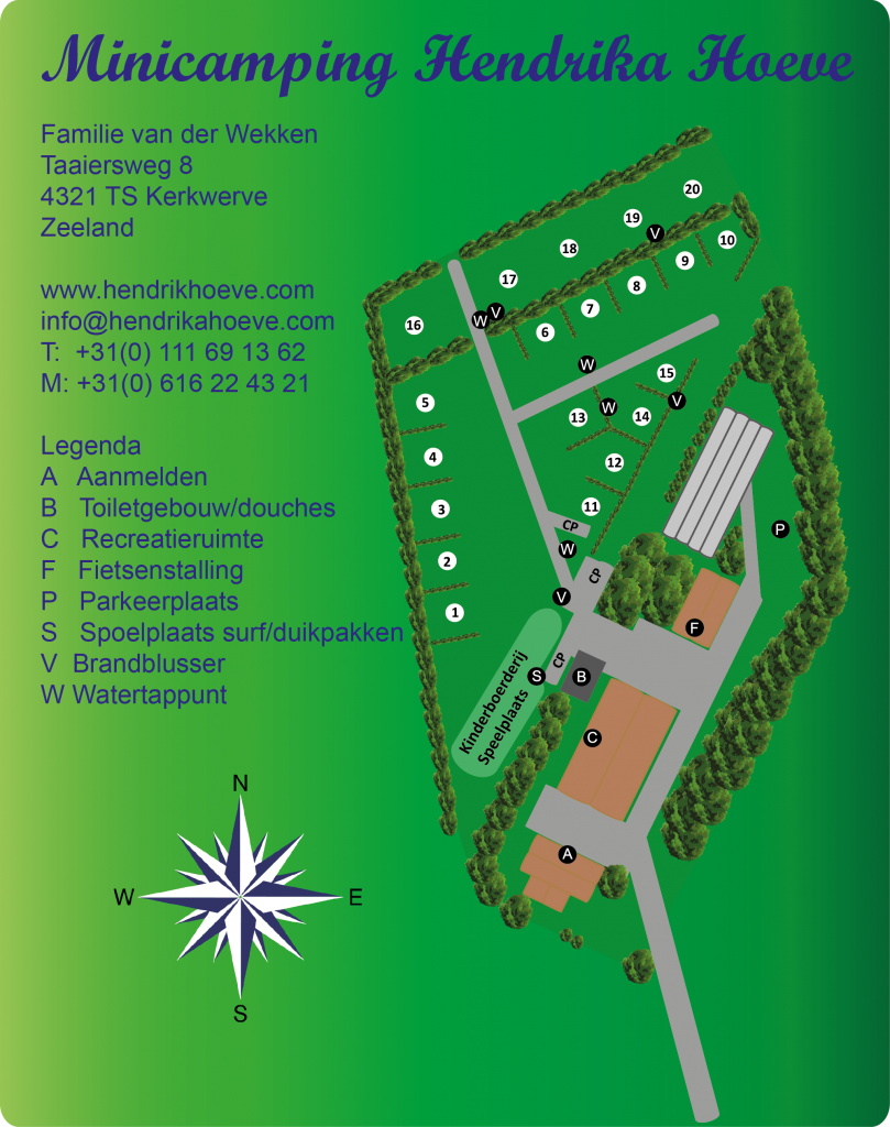 plattegrond camping